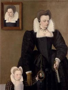 A Lady with Child, ca. 1585 (Francois Quesnel) (1543-1619) The Weiss Gallery, London