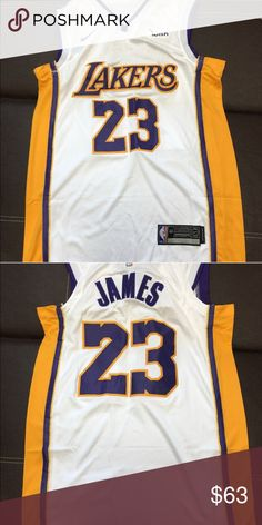 806e1fe6a Lebron James LA Lakers 23 Nike NBA Jersey Stitch white color brand new with  tags Nike Other