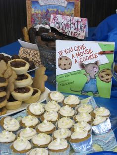 Book Themed Baby Shower- Use books to choose the food.  Cookies (mouse a cookie) Fruits (very hungry caterpillar) Crockpot meat balls (Cloudy with a chance of meatballs) Coconut punch (Chicka Chicka Boom Boom)