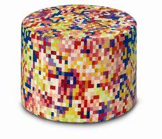 Missoni Home Mocaie Cylindrical Pouf | Wayfair