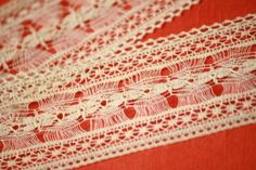 Unique Blood Orange Handmade Guest Book Hairpin Lace   Art By Chapin ~ handmade books