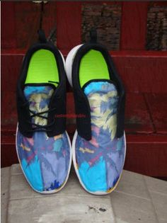 82d06f291ed7 Custom Nike Roshe Run- Popular Palm Tree Tropical Blast Nike Roshe Runs -  Women