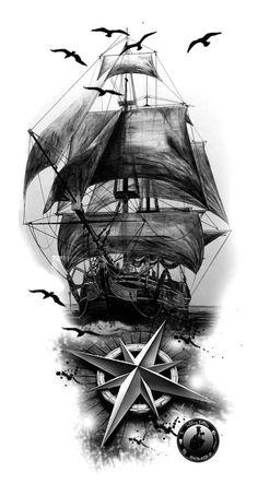 6dc71b5d8 314 Best Pirate Ship Tattoo Ideas images in 2019 | Tattoos, Tattoo ...
