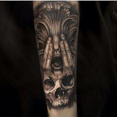 「 Artist :  @mumia916 Studio: Zoi Tattoo  Country : DENMARK /COPENHAGEN Contact : mumia.tattoo.artist@gmail.com Sponsored:Silverback, Ink pro team  BEHIND… 」