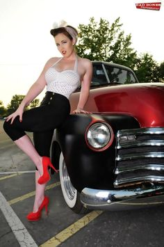 Pin-up model. I could do it better, just saying.