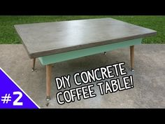 DIY Ardex Concrete Coffee Table - (Part 2 of 2) - YouTube