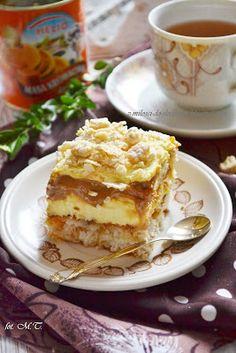 Lekkie ciasto kokosowe, delikatny krem budyniowy, biszkopty, słodki karmel i chrupiące wafelki. Takie jest właśnie to ciasto:) PRZEPYSZNE! I...