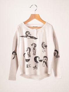 Birds Buttons T-Shirt