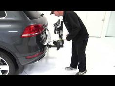 Kuat NV 4 Hitch Mounted Bike Rack Review - 2011 Volkswagen Touareg - YouTube