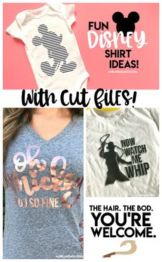 Cute Disney shirt cut files for your silhouette and cricut svg! grab some expressions vinyl and start creating – A girl and a glue gun – Disney Crafts Ideas Cute Disney Shirts, Disney Shirts For Family, Shirts For Teens, Cute Cut Shirts, Funny Disney, Couple Shirts, Disney Trips, Disney Vacations, Disney Cruise