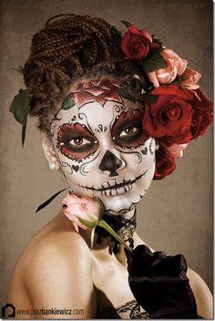 maquillaje de catrina (26) la calavera catrina!!! Cool mexican skeleton costume make up