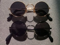 Lot Of 2 Sunglasses With Round Lenses  Seventies 70s Hippie Glasses Set N3a 60s
