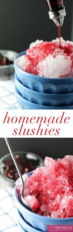 Homemade Slushies recipe || Homemade is so much better!!! You can have slushies when ever you want this summer!