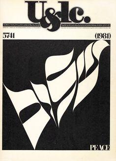 Herb Lubalin typography, handlettering work