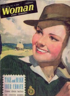 Womens Land Army- Woman Magazine cover: E2BN Gallery