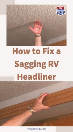 The fabric headliner in your RV can begin to sag in spots for various reasons, including excessive heat, humidity, and leakage. These all cause the adhesive to loosen and the fabric headliner to peel away from the ceiling. But fear not! You can fix your sagging RV headliner in a few different ways and get the inside of your vehicle looking tiptop.