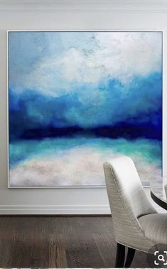 Orange Painting, Blue Abstract Painting, Abstract Canvas Art, Colorful Paintings Abstract, Painting Clouds, Sand Painting, Large Canvas Art, Large Canvas Paintings, Modern Canvas Art