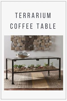 How cool! With this terrarium coffee table, succulents can be a central part of your living room decor. #plantlady #coolidea #affiliate