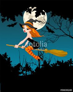"""Download the royalty-free vector """"Halloween Witch banner"""" designed by Anna Velichkovsky at the lowest price on Fotolia.com. Browse our cheap image bank online to find the perfect stock vector for your marketing projects!"""
