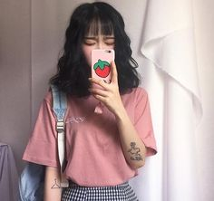 Cute uzzlang girl with bangs yasss Style Ulzzang, Korean Ulzzang, Ulzzang Fashion, Korean Girl, Asian Girl, Kfashion Ulzzang, Korean Ootd, Ulzzang Hair, Korean Style