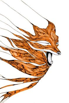 1000 images about du rouge on pinterest foxes for Cool fox drawings