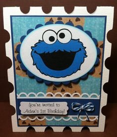 Paper Crafts by Candace: Hello Kitty & Cookie Monster Invitations