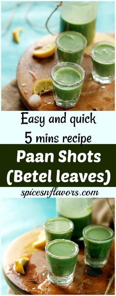 Paan Shots - Refreshing Paan (Betel leaves) Drink - Spices N Flavors Indian Drinks, Indian Desserts, Indian Food Recipes, Diwali Recipes, Fruit Diet, New Fruit, Refreshing Drinks, Summer Drinks, Mocktail Drinks