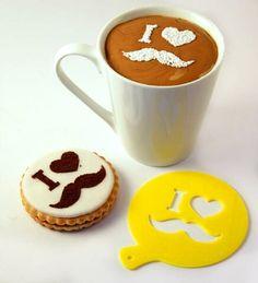 Coffee Stencil Cookie Stencil Custom Stencil by ecoandfun on Etsy Coffee Menu, Coffee Art, Coffee Shop, Coffee Cups, Menu Design, Cafe Design, Cafeteria Vintage, Coffee Stencils, Candy Popcorn