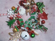 Christmas bracelet/ Christmas/ Santa/ Tree/ by beadiebracelet