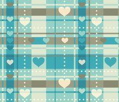 Hearty Plaid fabric by heartsandlaserbeams on Spoonflower - custom fabric