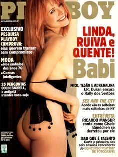 Playboy Brazil September 2003 Cover featured by Anna Bárbara Xavier (Babi)
