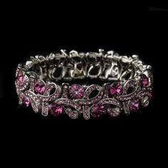 New Bridesmaid Silver Pink  - Bracelet - $62.99