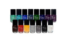"""Celebrity manicurist Julia Palmer's Wet Paint Nail Glaze System! """"Palmer's ingenious formula allows you to become the color chemist, layering shades of polish until your nails gleam with that perfect hue. You're probably thinking, """"Am I supposed to be some type of psychic and predict how the color will come out if I layer A, B, and C?"""" Of course not! No one's expecting you to become a Pantone color specialist overnight. Simply go to The Wet Paint Nails website and preview how the colors will…"""