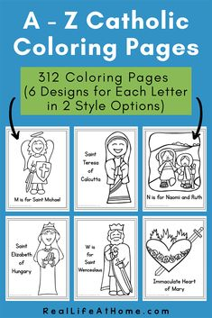 Catholic Coloring Pages - 312 Religious Coloring Pages featuring saints, religious items, Bible stories, and more