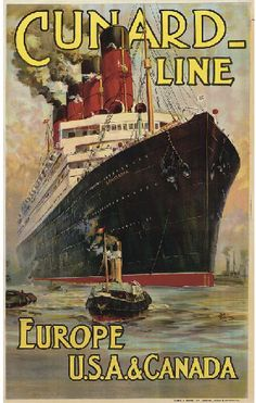 Cunard Line - Europe, USA & Canada - 1914 - (Odin Rosenvinge) -