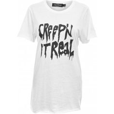 Evil Twin Creep it Real Long Length T-shirt - As seen on Avril Lavigne - Image 1 of 4