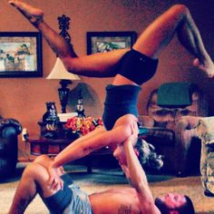 Couples yoga positions. #yoga #couples #sexy More inspiration at: http://www.valenciamindfulnessretreat.org