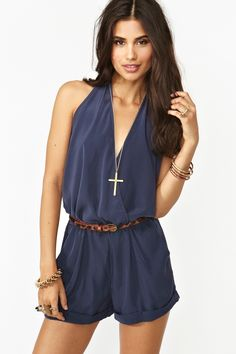 Shadow Wrap Romper in Navy: This is so cute! I love rompers :) They are a really cute, summer outfit :)