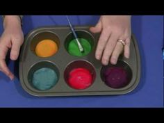 Sticky Paint by Shelley Lovett, childcareland: A different paint for kids to use, less messy and dries shiny! #Paint #Kids #childcareland