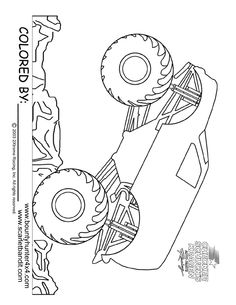 monster truck coloring page printable - Monster Truck Coloring Pages Easy