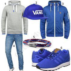 Sportlicher Look mit Hoodie, Cap und Sneakern (m0916) #cap #hoodie #armband #adidas #jeans #inspiration #cloth #ootd #herrenoutfit #männeroutfit #outfit #style #herrenmode #männermode #fashion #menswear #herren #männer #mode #menstyle #mensfashion #menswear