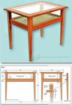 Display Table Plans - Furniture Plans and Projects | WoodArchivist.com