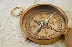 vintage handheld compass