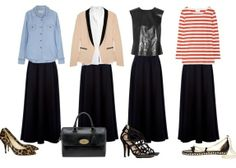South Molton St Style: [Essential] Black Maxi Skirt