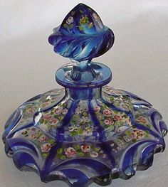 | Antique French glass perfume bottle