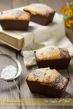 Mini plumcake allo yogurt bicolori