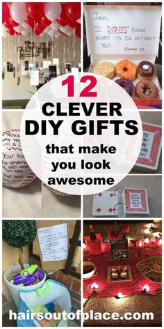 14 fun and easy DIY gift ideas that make you look super amazing! Perfect gift ideas for your special someone for a DIY boyfriend Christmas gift, a birthday, promposal, an anniversary or Valentines Day. Diy Valentines Gifts For Him, Bday Gifts For Him, Surprise Gifts For Him, Thoughtful Gifts For Him, Husband Valentine, Gifts For Fiance, Diy Gifts For Boyfriend, Diy Anniversary Gifts For Him, Boyfriend Valentine Ideas