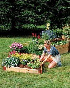 Raised flower beds: