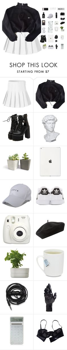 """long gone before you come back."" by tzingfung ❤ liked on Polyvore featuring NIKE, WithChic, Eichholtz, adidas Originals, Fujifilm, Accessorize, Rig-Tig by Stelton, adidas, Urbanears and D.L. & Co."