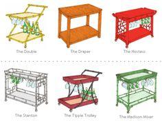 Society Social barcarts via Simplified Bee http://www.shopsocietysocial.com/products/the-hostess